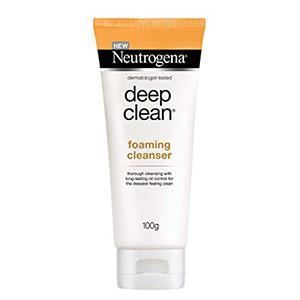 โฟมล้างหน้าลดสิว NeutrogenaDeep-Clean-Foaming-Cleanser