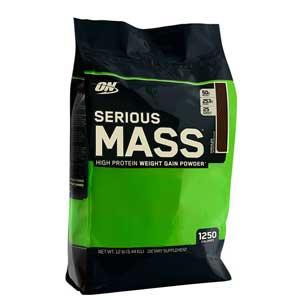 เวย์เพิ่มน้ำหนักOPTIMUM Nutrition Serious Mass 12 Lbs Chocolate