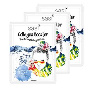 แผ่นมาส์กหน้าsasi Collagen Booster Skin Firming Collagen Mask