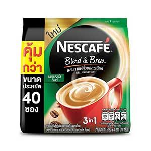 กาแฟซองสำเร็จรูป NESCAFE BLEND & BREW 3in1 เนสกาแฟ เบลนด์ แอนด์ บรู 3อิน1 กาแฟปรุงสำเร็จ เอสเปรสโซ โรสต์