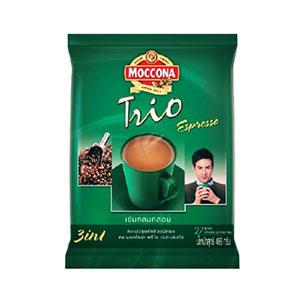 กาแฟซองสำเร็จรูป Moccona Trioกาแฟปรุงสำเร็จชนิดผง รส Espresso