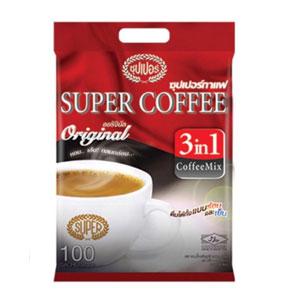 กาแฟซองสำเร็จรูป Super Coffeeกาแฟปรุงสำเร็จชนิดผง 3 อิน 1 คอฟฟี่ มิกซ์