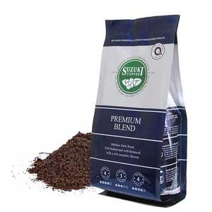 เมล็ดกาแฟ กาแฟคั่วบด SUZUKI COFFEE Premium Blend สูตรเข้ม
