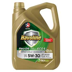 น้ำมันเครื่อง CALTEX น้ำมันเครื่อง Havoline ProDS ECO 5