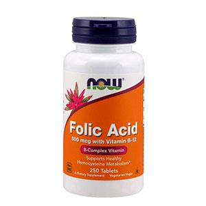 อาหารเสริมกรดโฟลิค Now Foods,Folic Acid with Vitamin B-12