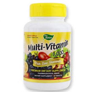 The Nature Multivitamin Multi Vitamin Plus Zinc Gluconat
