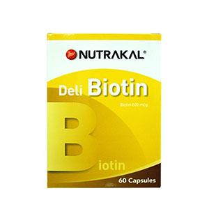 ไบโอติน NUTRAKAL Deli Biotin 60 Capsules