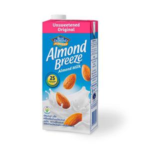 นมอัลมอนด์ Blue Diamond Almond breeze Unsweetened Original Almond Milk 946 ml.